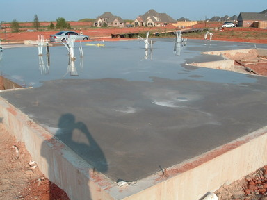 House Slab Poured